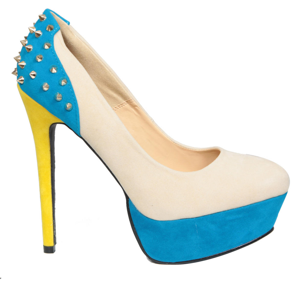Colour Block Spike Studded Platform Shoe Preview